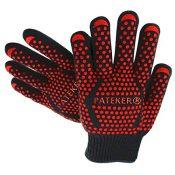 Pateker® Premium Qualität Hitzebeständig EN407 Beglaubigte - 2 Professionelle grillhandschuhe ofenhandschuhe Kochhandschuh Topfhandschuhe Backhandschuh -Eine Größe passt fast allen - 1