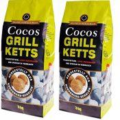 6kg Cocos Grill Briketts Premium Holzkohle Grillkohle aus Kokosnuss - ökologisch - 1